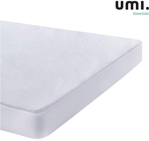 UMI. Essentials - Protector de colchón de Rizo algodón Impermeable ...
