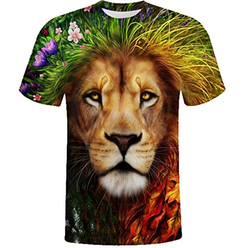 Men t Shirts Graphic Funny 3D Printing Tees Shirt Short Sleeve T-Shirt Blouse Tops Mens Summer Fashion 2019 Green