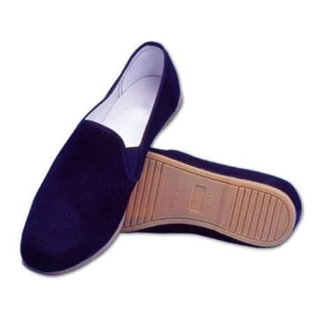 YORYU Zapatos Kung FU de Algodón con Suela Goma Tai Chi Negro Negro Size: 41 ud48Q