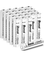 Bonai AAA Batteries Rechargeable 24 Packs 1100mAh Ni-MH1.2V AAA Batteries Precharged 1200 Cycles Low Self Discharge Solar Light Batteries AAA Rechargeable …
