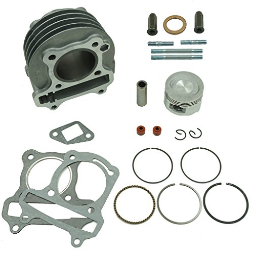 Glixal ATMT1-008 Performance Big Bore Cylinder Kit GY6 80cc 47mm for 139QMB ATV Scooter Moped Go - Engine Bore Big