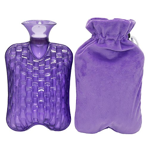 KOODER Hot Water bottle,Slow down the symptom of dysmenorrhea,Winter heating products! 2L … (Purple)