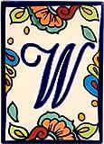 Hacienda Talavera Ceramic House Letter W