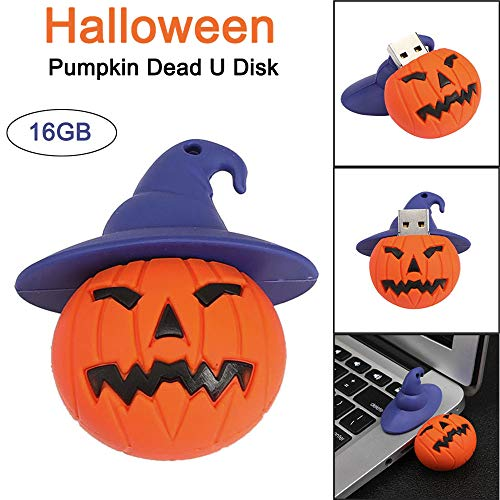 USB 2.0 16GB Memory Storage Pen Disk Digital Halloween Pumpkin Head U Disk