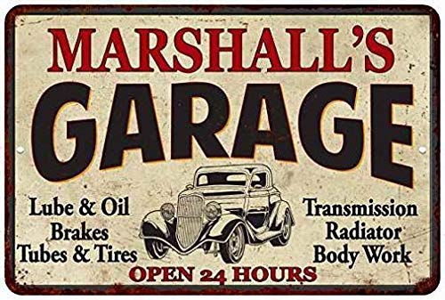 s Garage Personalized Man Cave Decorative Metal Signs for Women Wall Post Tin Sign Present ()