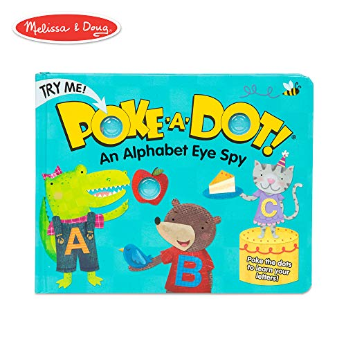 Melissa & Doug Children's Book - Poke-A-Dot: An Alphabet Eye Spy (Board Book with Buttons To Pop)