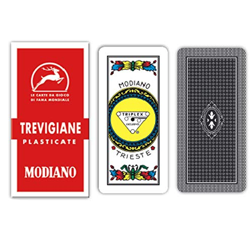 modiano 300134 playing cards treviso 89/90 plastic ()