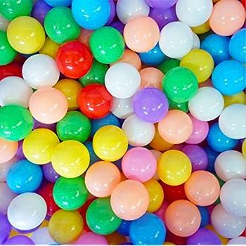 ELENKER 100pcs 5.5cm Colorful Ball Soft Plastic Ocean Ball for Baby Kid