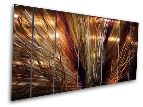 Large Abstract Metal Wall Art  ZION  by Artist Ash Carl  sc 1 st  Wizzley & Metal Wall Art by Ash Carl