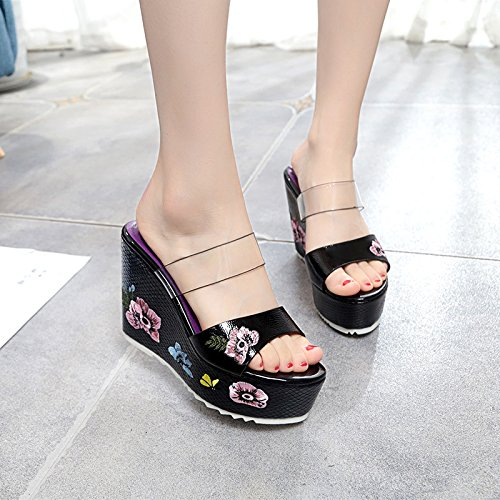 Lap Summer Platform Bottom Women'S Thick Sandals Stylish With Comfortable White Leisure Waterproof Cool Hundred Slopes Slippers wnaw7v8I4q