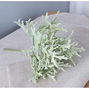 MARJON FlowersArtificial Flowers 2 Branch Fake Flower Fake Plants Decora Classic Stage Props Oriental Plants Christmas Tree Tabletop Flower,Green 3