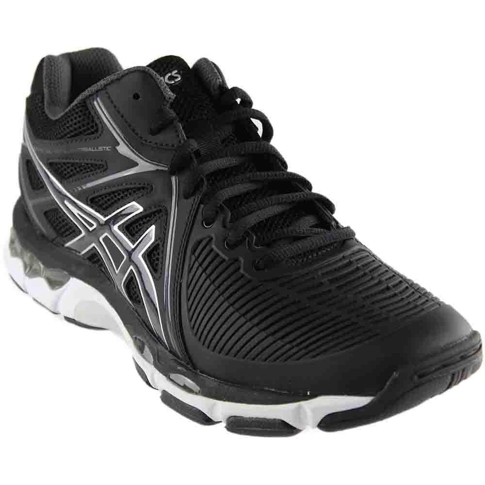 ASICS Men's Gel-Netburner Ballistic MT Volleyball-Shoes, Black/Dark Grey/Silver, 14 Medium US by ASICS