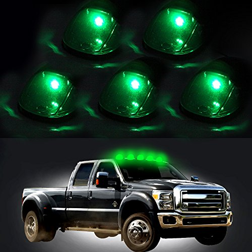 cciyu 5 Pack Smoke Cab Roof Marker Clearance Covers w/T10 Wedge Green Speedometer Instrument Gauge Cluster LED Light Bulbs Replacement fit for 1999-2002 Dodge Ram 2500 3500 4500 (Speedometer Ram Dodge)