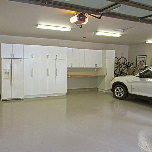 LEONLITE 40W 4FT LED Wraparound Garage Shop Light Flush