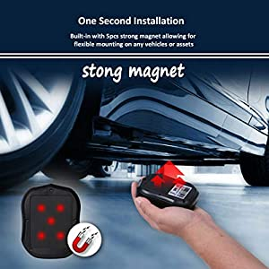 GPS Tracker for Vehicles, Hidden Car Tracker Real-time Tracking Anti-Theft GPS Locator with Electric Fence Alarm for Car/Motorcycle/Trucks/Fleet/Boat (5000mAh)