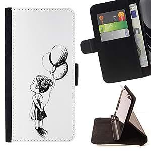 Momo Phone Case / Flip Funda de Cuero Case Cover - Chica Madre Tinta Negro Blanco - Samsung Galaxy S6