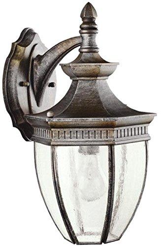 Kichler 9369TZ Warrington Outdoor Wall 1-Light, Tannery Bronze For Sale