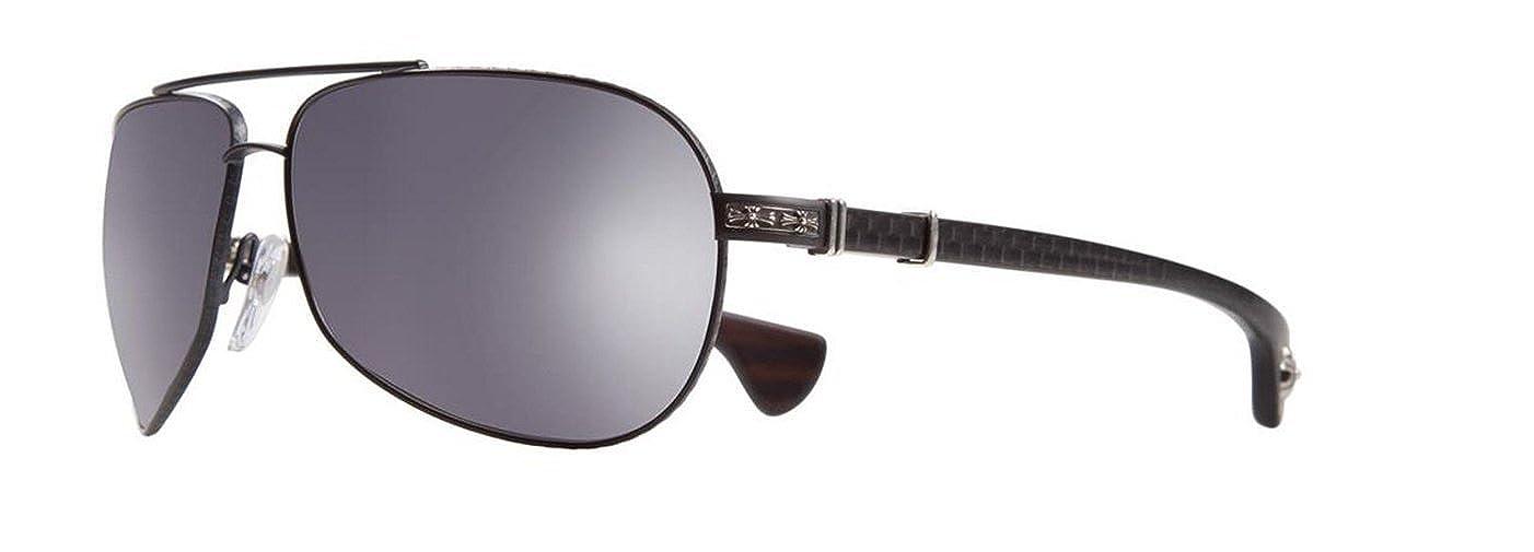 d838590c3063 Amazon.com  Chrome Hearts - Grand Beast II - MBK-WEB MC -Matte Black-Ebony  Wood- Sunglasses  Clothing