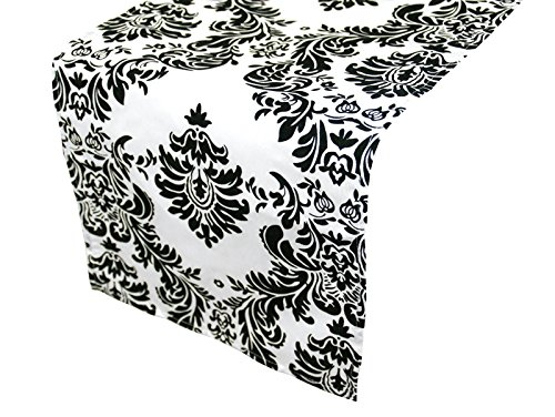 Table Runner Damask Flocking Taffeta product image