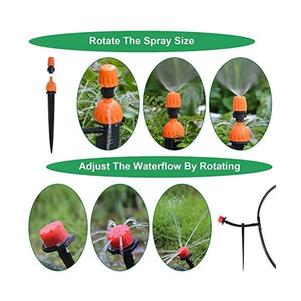 Kit per Irrigazione a Goccia,Emooqi Sistema Irrigazione, 40M DIY Kit di Micro Irrigazione Automatico Irrigazione Sistema… 4 spesavip