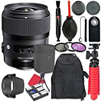 Sigma 35mm f/1.4 DG HSM Art Lens For Nikon + Accessory Bundle