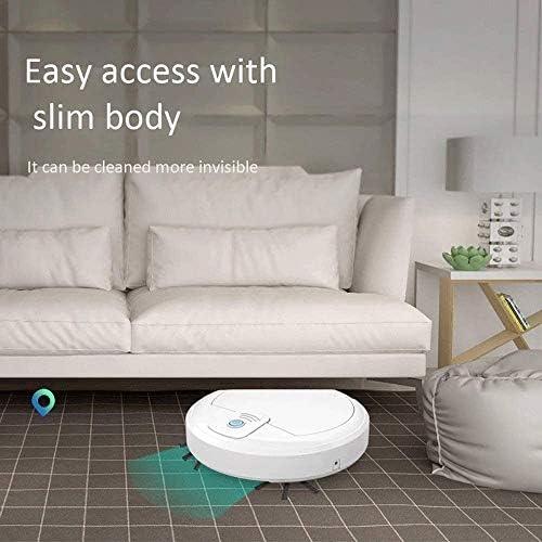 Z-Color Robot Aspirateur Haute Aspiration, Automatique de Recharge Automatique robotisée Aspirateur, Travaux sur Sol Dur et Bas Pile Tapis, Poils d\'animaux