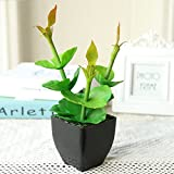 Artificial Flowers Bonsai Wedding Decoration Simulation of small potted plants jardim indoor Green plants flower Home Decor Set (Style 3)