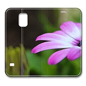 Brain114 Fashion Style Case Design Flip Folio PU Leather Cover Standup Cover Case with Blume 2 Pattern Skin for Samsung Galaxy S5 I9600