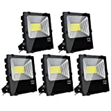 DELight5 Pack 100W LED Flood Light Outdoor Security Lamp 450 Watt Equivalent For Sale