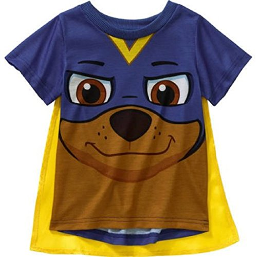 Paw Patrol Toddler Boys' Caped Graphic Tee Shirt, Dazzling Blue
