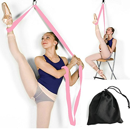 Price Xes Door Flexibility & Stretching Leg Strap - Great for Ballet Cheer Dance Gymnastics or Any Sport Leg Stretcher Door Flexibility Trainer Premium Stretching Equipment (Pink)