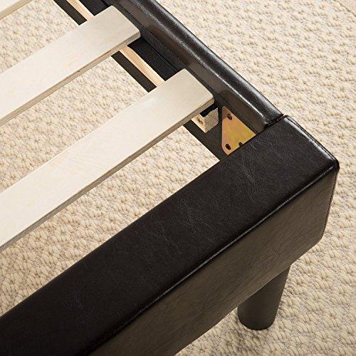 Sleep Master Essential Faux Leather Upholstered Platform