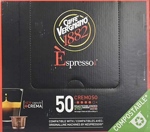Caffe Vergnano Cremoso Espresso Pods - Compostable Capsules (250 gram) ()