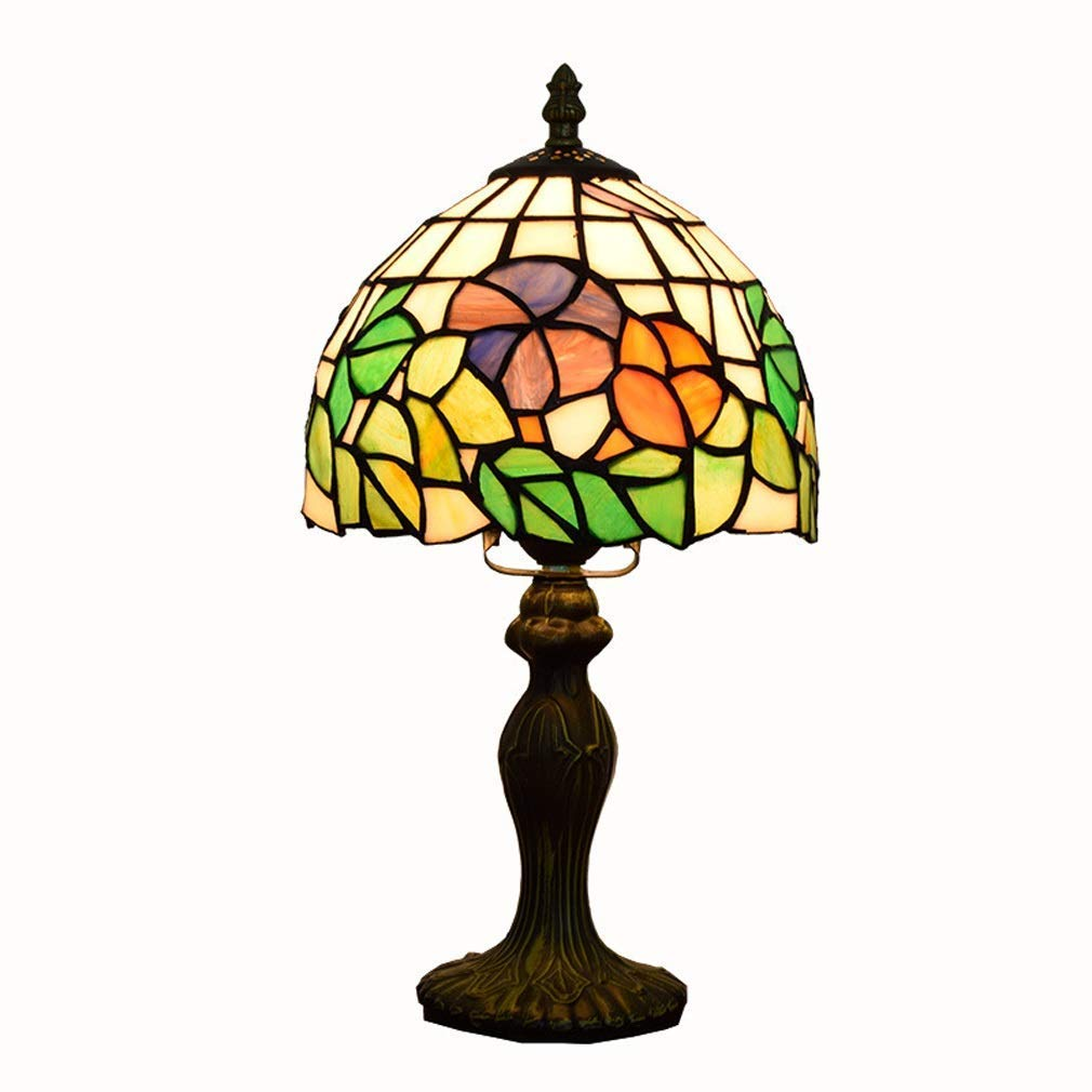 Farbiges Glas Tischlampe, amerikanisches Minimalist Glas Schreibtischlampe, Arbeitszimmer Schlafzimmer Leselampe, bequeme weiche Leselampe.