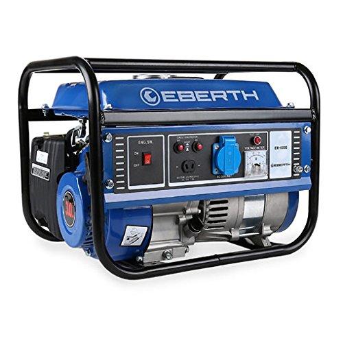5 opinioni per EBERTH 1000 W Generatore di corrente (3 CV Motore a benzina a 4 tempi, Monofase,