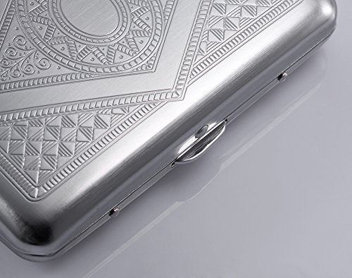 Credit Card Holder - Silver Stainless Steel RFID Blocking Credit Card Protector - For Men & Women - Latest Slim Metal Case & Stylish Travel Wallet