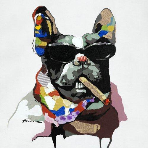Boston Terrier Portrait (Yosemite Home Decor ARTAAA0308 Cool Gear Abstract Canine Portrait)