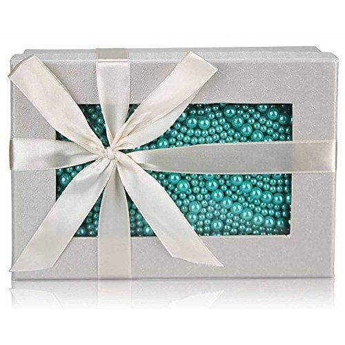 TrendStar - Bolso de mano para mujer, diseño con cuentas de cristal Turquesa - Emeraude