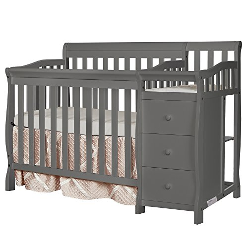 Pine Twin Size Daybed - Dream On Me Jayden 4-in-1 Mini Convertible Crib And Changer, Storm Grey
