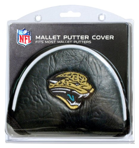 Team Golf NFL Jacksonville Jaguars Golf Club Mallet Putter Headcover, Fits Most Mallet Putters, Scotty Cameron, Daddy Long Legs, Taylormade, Odyssey, Titleist, Ping, Callaway