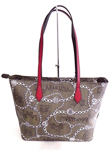 BORSA LA MARTINA SHOPPING BAG NEW RECONQUISTA LADY 41W036K0012 CHAIN MULTICOLOR