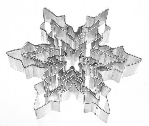 Tesoar 5Pcs Snowflake Ice Crystal Cookie Cutter -