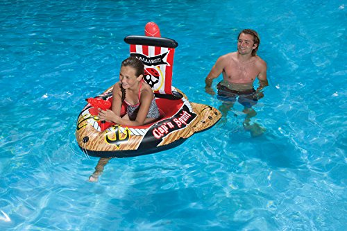 Poolmaster Pirate Ship with Action Squirter Swimming Pool Float
