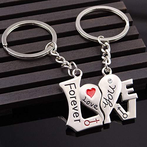 Amazon.com: Novelty Chaveiro Couple Keychain Lovers Heart ...