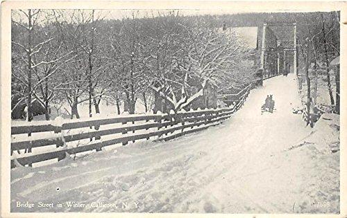Bridge Street in Winter Callicoon, New York, Postcard