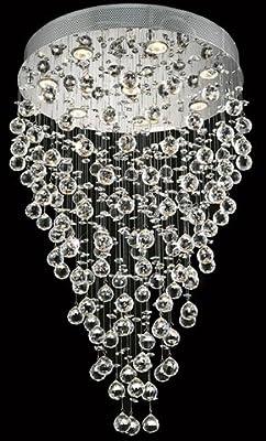 modern contemporary chandelier spiralquotrain drop