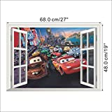 Movie cars wall stickers for kids rooms decoration Children 019 cartoon film movie 3d window room decal nursery wall mural art