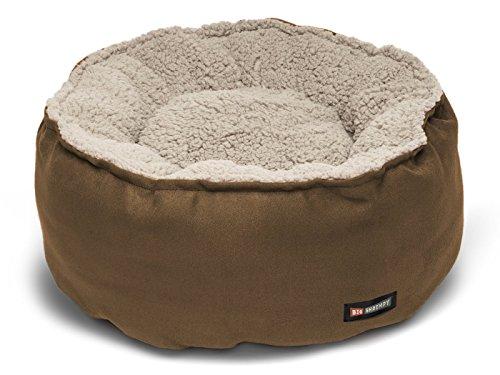 Big Shrimpy Catalina Plush Pet Bed for Cats and Small Dogs, Medium, Walnut