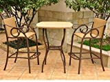 Cheap Outdoor Wicker Bar Height Bistro Set