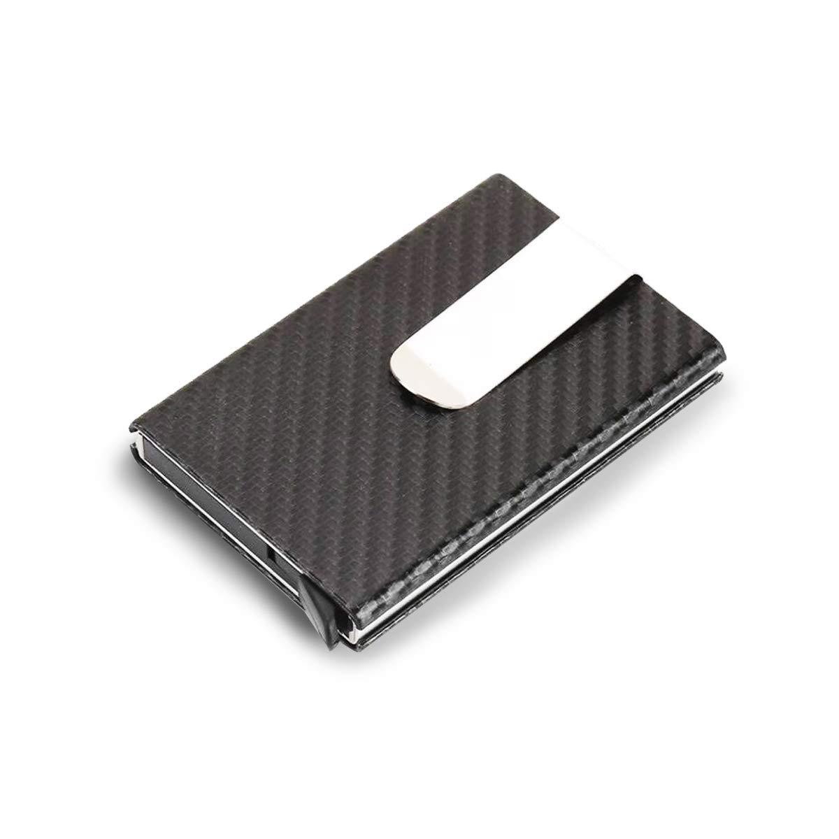 Porte-Cartes de cr/édit avec Protection RFID Portefeuille Intelligent pour 10 Cartes Pop-up en m/étal avec Double /étui
